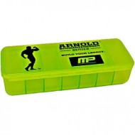 Таблетница Muscle Pharm Arnold Pill Box 7 Section Black-Green